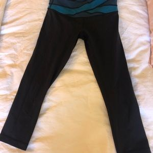 Black wunder unders with blue waist band